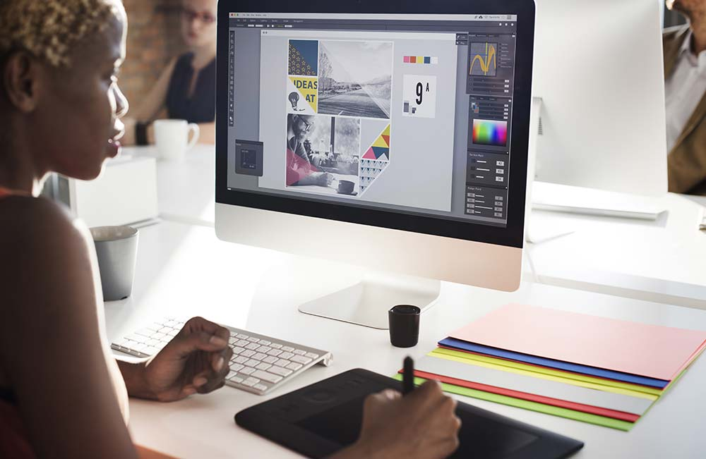 Young graphic designer working